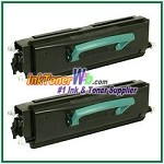 Lexmark X340 X342 High Yield Compatible Toner Cartridges - 2 Piece