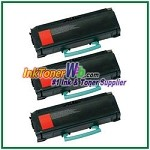 Lexmark X463, X464, X466 Extra High Yield Compatible Toner Cartridges - 3 Piece