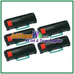Lexmark X463, X464, X466 Extra High Yield Compatible Toner Cartridges - 5 Piece