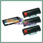 Lexmark X463, X464, X466 Compatible Extra High Yield Toner Cartridges & Drum Unit - 4 Piece Combo