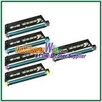 Lexmark X560 Black, Cyan, Magenta, Yellow High Yield Compatible Toner Cartridges - 5 Piece Combo