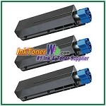 OKI Data 44992405  Compatible Black Toner Cartridge for B401 - 3 Piece