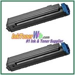 OKI Data 43979101 Compatible Black Toner Cartridge for B410 - 2 Piece