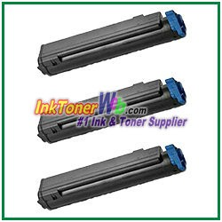 OKI Data 43979101 Compatible Black Toner Cartridge for B410 - 3 Piece