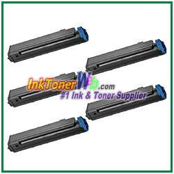 OKI Data 43979101 Compatible Black Toner Cartridge for B410 - 5 Piece