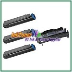 OKI Data B410 Compatible Toner Cartridge & Drum Unit - 4 Piece Combo