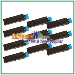 OKI Data 44574701  Compatible Black Toner Cartridge for B411/B431 - 10 Piece