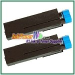 OKI Data 44574701  Compatible Black Toner Cartridge for B411/B431 - 2 Piece