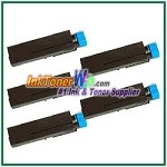 OKI Data 44574701  Compatible Black Toner Cartridge for B411/B431 - 5 Piece