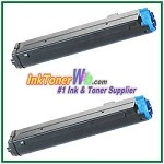 OKI Data 43502301 Type 9 Compatible Black Toner Cartridge for B4400/B4600 - 2 Piece