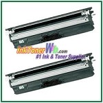 OKI Data 44250716 Type D1 Compatible Black Toner Cartridge for C110 / C130n / MC160 MFP - 2 Piece