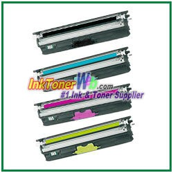 OKI Data 44250713-16 Type D1 High Yield Compatible Toner Cartridges for C110/C130n/MC160 MFP - 4 Piece Combo
