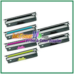 OKI Data 44250713-16 Type D1 High Yield Compatible Toner Cartridges for C110/C130n/MC160 MFP - 6 Piece Combo