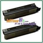 OKI Data 42127404 High Yield Compatible Black Toner Cartridge - 2 Piece