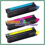 OKI Data 42127401-03 High Yield Compatible Toner Cartridges for - 3 Piece Combo