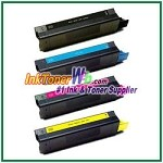 OKI Data 52114003 (42127401-04) High Yield Compatible Toner Cartridges - 4 Piece Combo