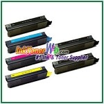 OKI Data 42127401-04 High Yield Compatible Toner Cartridges - 6 Piece Combo