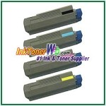 OKI Data 43324401-04 High Yield Compatible Toner Cartridges Type C8 - 4 Piece Combo