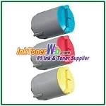 Color Toner Cartridge Compatible with Samsung CLP-C300A CLP-M300A CLP-Y300A- 3 Piece Combo
