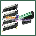 Toner Cartridge & Drum Unit Compatible with Samsung CLP310/315 CLT-K409S CLT-C409S CLT-M409S CLT-Y409S CLT-R409 - 5 Piece Combo