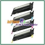 Toner Cartridge Compatible with Samsung CLP310/315 CLT-K409S CLT-C409S CLT-M409S CLT-Y409S High Yield - 4 Piece Combo