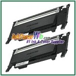 Black Toner Cartridge Compatible with Samsung CLP320/325 CLT-K407S - 2 Piece