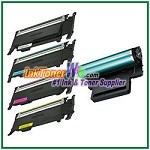 Toner Cartridge & Drum Unit Compatible with Samsung CLP320/325 CLT-K407S CLT-C407S CLT-M407S CLT-Y407S CLT-R407 - 5 Piece Combo