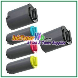 Toner Cartridge Compatible with Samsung CLP-K350A CLP-C350A CLP-M350A CLP-Y350A - 5 Piece Combo