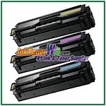 Color Toner Cartridge Compatible with Samsung CLT-C504S CLT-M504S CLT-Y504S High Yield - 3 Piece Combo