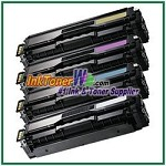 Toner Cartridge Compatible with Samsung CLT-K504S CLT-C504S CLT-M504S CLT-Y504S High Yield - 4 Piece Combo