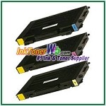 Color Toner Cartridge Compatible with Samsung CLP-510D5C CLP-510D5M CLP-510D5Y High Yield - 3 Piece Combo