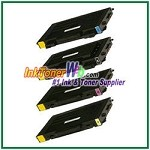 Toner Cartridge Compatible with Samsung CLP-510D7K CLP-510D5C CLP-510D5M CLP-510D5Y High Yield - 4 Piece Combo