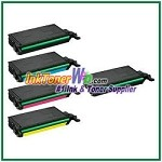 Toner Cartridge Compatible with Samsung CLT-K508L CLT-C508L CLT-M508L CLT-Y508L High Yield - 5 Piece Combo