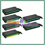 Toner Cartridge Compatible with Samsung CLT-K508L CLT-C508L CLT-M508L CLT-Y508L High Yield - 6 Piece Combo