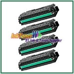 Toner Cartridge Compatible with Samsung CLT-K506L CLT-C506L CLT-M506L CLT-Y506L High Yield - 4 Piece Combo