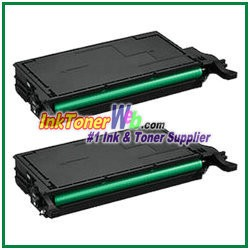 Black Toner Cartridge Compatible with Samsung CLP-770 CLT-K609S - 2 Piece