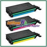 Color Toner Cartridge Compatible with Samsung CLT-C609S CLT-M609S CLT-Y609S - 3 Piece Combo