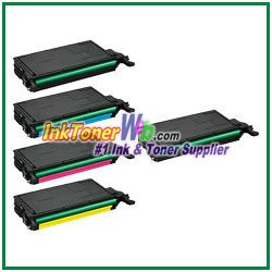 Toner Cartridge Compatible with Samsung CLT-K609S CLT-C609S CLT-M609S CLT-Y609S - 5 Piece Combo