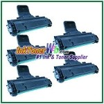 Toner Cartridge Compatible with Samsung MLT-D108S - 5 Piece