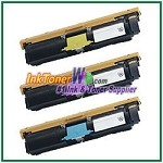 Xerox 113R00693-95 Compatible High Yield Toner Cartridges for Phaser 6120 series - 3 Piece Combo