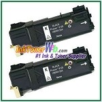 Xerox 106R01334 Compatible Black Toner Cartridge for Phaser 6125 series - 2 Piece
