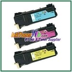 Xerox 106R01331-33 Compatible Toner Cartridges for Phaser 6125 series - 3 Piece Combo