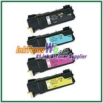 Xerox 106R01331-34 Compatible Toner Cartridges for Phaser 6125 series - 4 Piece Combo