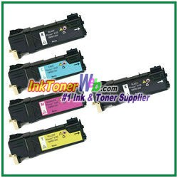 Xerox 106R01331-34 Compatible Toner Cartridges for Phaser 6125 series - 5 Piece Combo