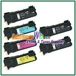 Xerox 106R01331-34 Compatible Toner Cartridges for Phaser 6125 series - 6 Piece Combo