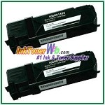 Xerox 106R01455 Compatible Black Toner Cartridge for Phaser 6128MFP series - 2 Piece