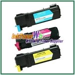Xerox 106R01452-54 Compatible Toner Cartridges for Phaser 6128MFP series - 3 Piece Combo
