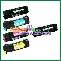 Xerox 106R01452-55 Compatible Toner Cartridges for Phaser 6128MFP series - 5 Piece Combo