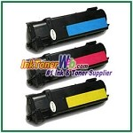 Xerox 106R01278-80 Compatible Toner Cartridges for Phaser 6130 series - 3 Piece Combo