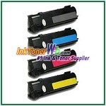 Xerox 106R01278-81 Compatible Toner Cartridges for Phaser 6130 series - 4 Piece Combo